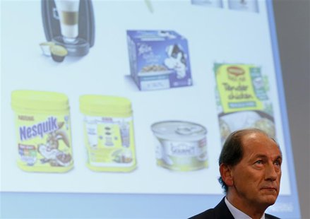Nestle Chief Executive Officer Paul Bulcke addresses the full year 2013 results conference at the company headquarters in Vevey February 13,