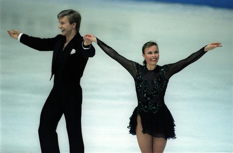 British skaters Jayne Torvil and Christopher Dean at the European Championships in 1994- RTXFHN5