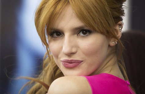 "Actress Bella Thorne arrives for the premiere of the movie ""Winter's Tale"" in New York February 11, 2014. REUTERS/Carlo Allegri"