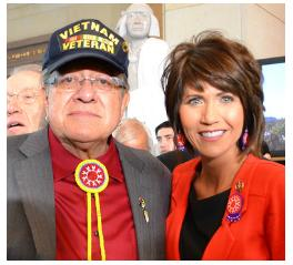 Noem helps the House pass a repeal of that reduction for current and former members of the military. (noem.house.gov)