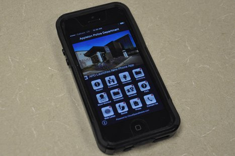 The Appleton Police Department's smartphone app, Feb. 14, 2014. (Photo from: FOX 11).