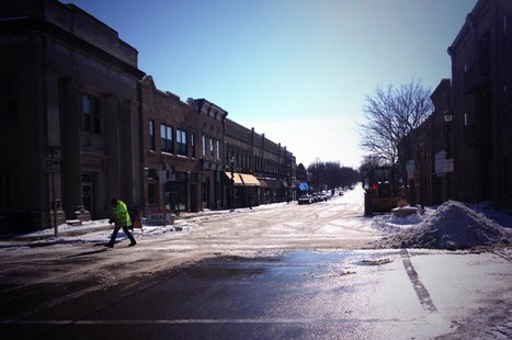 Watson St. in downtown Ripon reopened Feb. 14, 2014 after being closed for more than two months following a fire. (Photo from: FOX 11).