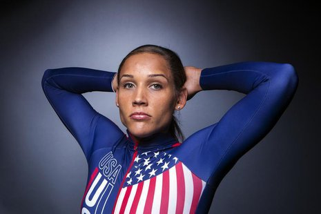 Olympic bobsledder Lolo Jones poses for a portrait during the 2013 U.S. Olympic Team Media Summit in Park City, Utah September 30, 2013. REU