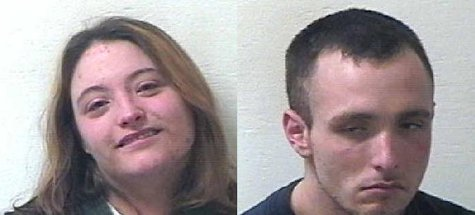 Emily Griffin and Kyle Huges (mugshots courtesy of Van Buren County jail}