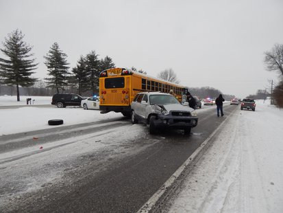 Vigo County School Bus Crash  photo provided by Indiana State Police