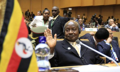Uganda's President Yoweri Museveni attends the opening ceremony of the 22nd Ordinary Session of the African Union summit in Ethiopia's capit