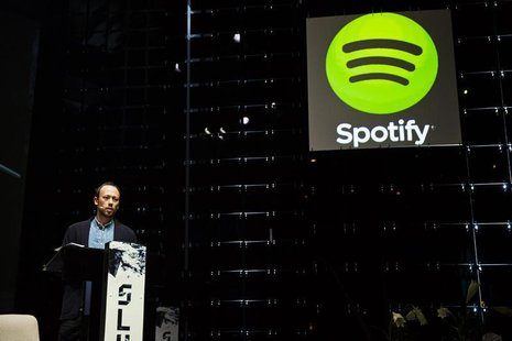 Spotify's VP Growth Alex Norstrom speaks at the Slush startup conference at Kaapelitehdas in Helsinki November 13, 2013. REUTERS/Roni Rekoma