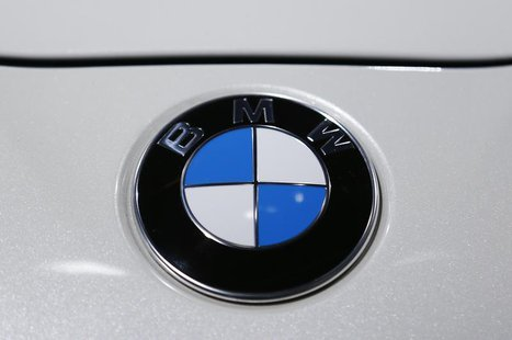 The logo of BMW is pictured during a media preview day at the Frankfurt Motor Show (IAA) September 10, 2013. REUTERS/Pawel Kopczynski