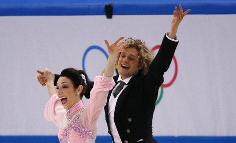 Meryl Davis and Charlie White of the U.S. compete during the Figure Skating Ice Dance Short Dance Program at the Sochi 2014 Winter Olympics,