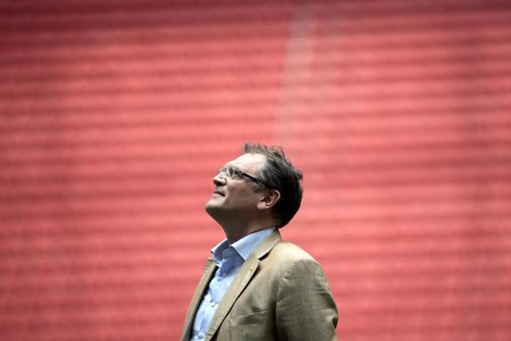 FIFA's Secretary General Jerome Valcke reacts during a visit to the Mane Garrincha National Stadium in Brasilia, February 17, 2014. REUTERS/
