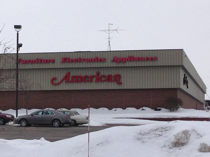 The American electronics and furniture store in Grand Chute as seen on Monday, Feb. 17, 2014. (Photo from: FOX 11)