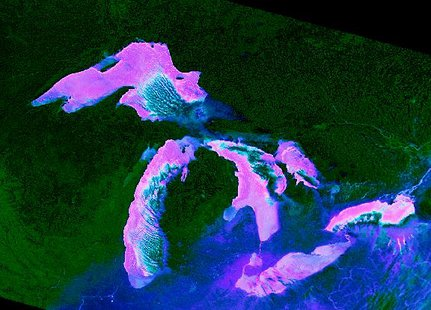 NOAA picture from space shows where the Ice has formed
