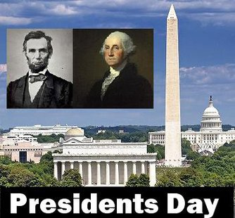 Abraham Lincoln's Birthday is February 12th and George Washington's Birthday in February 22nd.