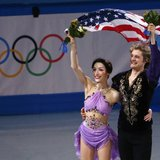 Michigan's Meryl Davis and Charlie White win Gold in Olympic Ice Dancing with record scores.   DAVID GRAY/REUTERS