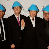 Image courtesy of Devo: Bob Casale, second from left (Jeffrey Mayer/WireImage) (via ABC News Radio)