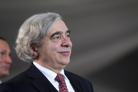 United States Secretary of Energy Ernest Moniz attends the grand opening of the Ivanpah Solar Electric Generating System in the Mojave Deser