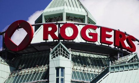 The Rogers sign is seen atop the Rogers Communications headquarters building on the day of their annual general meeting for shareholders in