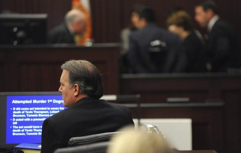 Michael Dunn sits in the courtroom during closing arguments at his murder trial in the shooting death of unarmed teen Jordan Davis, in Jacks