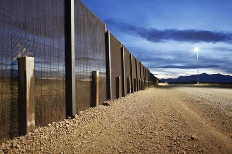 The Arizona-Mexico border fence near Naco, Arizona, March 29, 2013. CREDIT: REUTERS/SAMANTHA SAIS