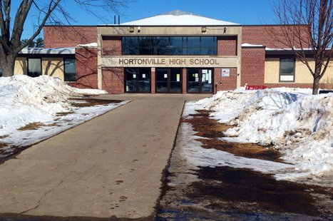 Hortonville High School is seen, Feb. 19, 2014. (Photo from FOX 11).