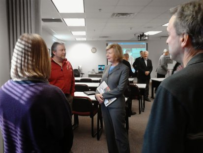 Sen. Tammy Baldwin at Domtar Mill, Rothschild, WI