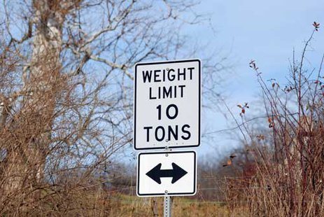 10 ton weight limit