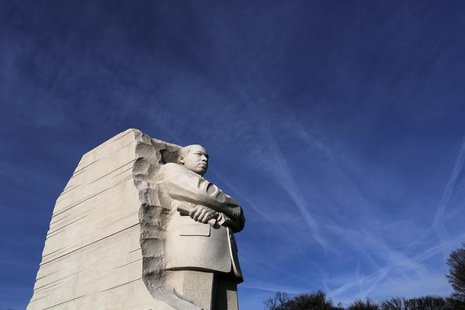 A general view of the Martin Luther King Jr. Memorial on the U.S. national holiday in his honor, in Washington, January 20, 2014. REUTERS/Jo