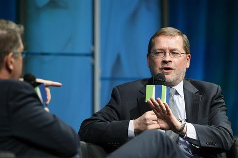 Americans for Tax Reform President Grover Norquist (R) participates in the Washington Ideas Forum at the Newseum in Washington November 13,