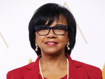 Academy President Cheryl Boone Isaacs arrives at the 86th Academy Awards nominees luncheon in Beverly Hills, California February 10, 2014. R