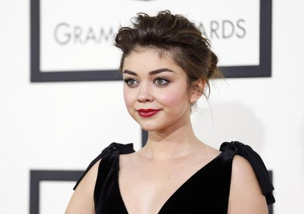 Actress Sarah Hyland arrives at the 56th annual Grammy Awards in Los Angeles, California January 26, 2014. REUTERS/Danny Moloshok