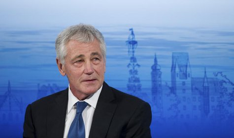 U.S. Defense Secretary Chuck Hagel attends at the annual Munich Security Conference February 1, 2014 file photo. REUTERS/Lukas Barth