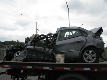 6/24/13 crash at Stewart Avenue and 17th Avenue in Wausau.  The driver of this car, Frances M. Wilk died from her injuries.