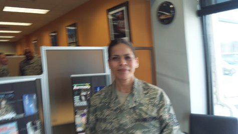 Master Sergeant Norma Gillette inside the new facility.