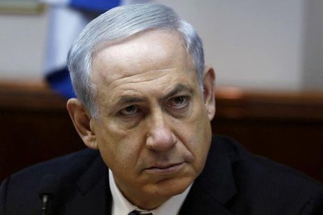 Israel's Prime Minister Benjamin Netanyahu attends the weekly cabinet meeting in Jerusalem February 2, 2014. REUTERS/Gali Tibbon/Pool