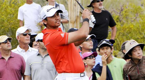 Feb 23, 2014; Marana, AZ, USA; Jason Day with his tee shot on the fifth hole during the final round of the World Golf Championships - Accent