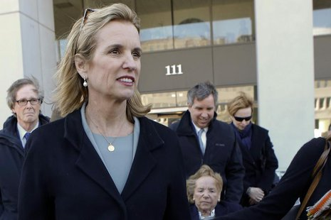 Kerry Kennedy, (2nd L) daughter of assassinated Senator Robert F. Kennedy and ex-wife of New York Governor Andrew Cuomo, exits the Westchest