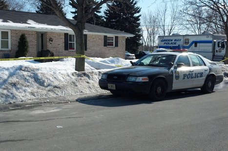 "Green Bay police investigate what they call a ""suspicious situation"" on the 1000 block of Bader St., Feb. 24, 2014. (Photo from: FOX 11)."