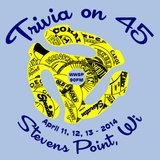 The logo for the 90FM Trivia Contest for 2014: Trivia on 45
