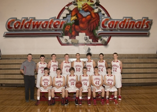 2013-2014 Coldwater High School boy's freshman basketball team