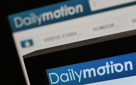 Dailymotion website pages opened in an internet browser are seen in this photo illustration taken in Paris, May 3, 2013. REUTERS/Christian H