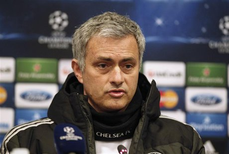 Chelsea's manager Jose Mourinho attends a news conference a day before their Champions League soccer match against Galatasaray in Istanbul F