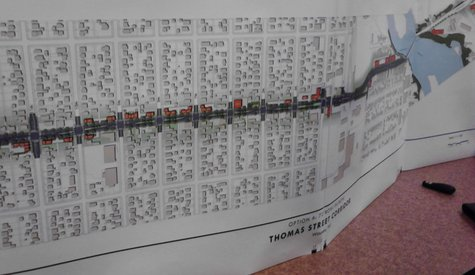 A map of the proposed new Thomas Street master plan from Graef Engineering (Photo: Raymond Neupert, WSAU)