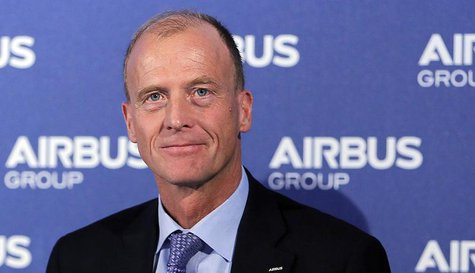 Tom Enders, Chief Executive Officer of Airbus Group, attends the Airbus Group 2013 annual results presentation in Toulouse February 26, 2014