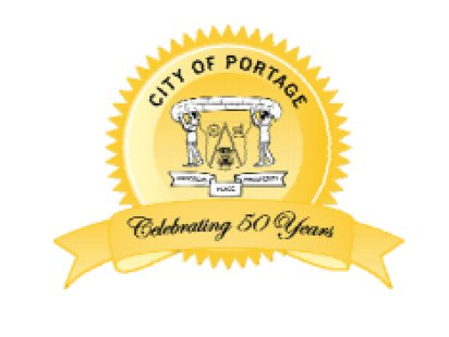 Anniversary Seal of the city of Portage.