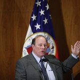 Detroit Mayor Mike Duggan gives the first State of the City address since the city declared bankruptcy, in Detroit February 26, 2014. REUTER