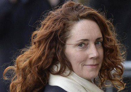 Former News International chief executive Rebekah Brooks arrives at the Old Bailey courthouse in London February 26, 2014. REUTERS/Toby Melv