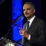 United States Attorney General Eric Holder speaks during the Human Rights Campaign's 13th annual Greater New York Gala in the Manhattan boro