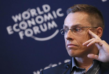 Finland's Minister of European Affairs and Foreign Trade Alexander Stubb attends the annual meeting of the World Economic Forum (WEF) in Dav