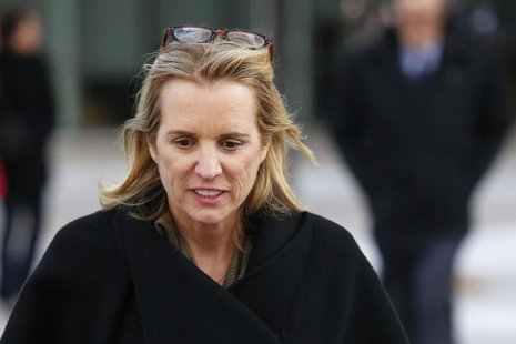 Kerry Kennedy, daughter of assassinated Senator Robert F. Kennedy and the ex-wife of New York Governor Andrew Cuomo, exits the Westchester C