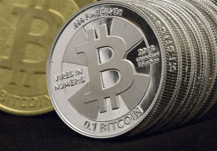 Some Bitcoins are pictured in this photo illustration in Sandy, Utah, January 31, 2014. REUTERS/Jim Urquhart REUTERS/Jim Urquhart